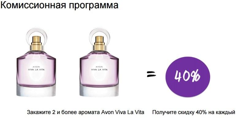 Комиссионная программа на аромат Avon la Vita