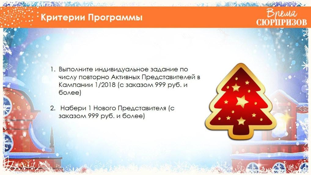 критерии программы для координаторов Эйвон Активный новый год