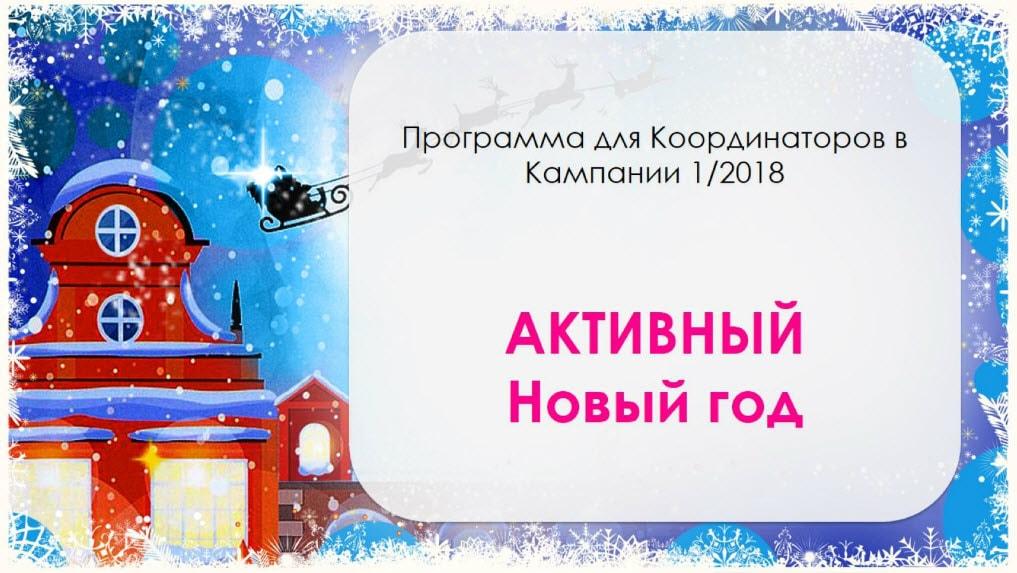 Программа для координаторов Эйвон Активный новый год