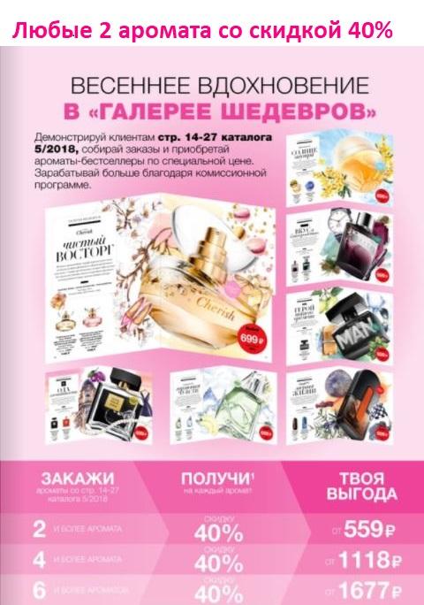 акция на ароматы Avon в 5 каталоге 2018