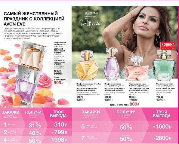 Скидки до 50% на ароматы Эйвон в 3 м каталоге 2019