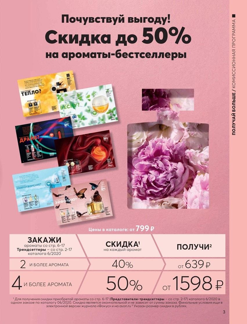 супер скидки на ароматы Эйвон в 6 каталоге 2020